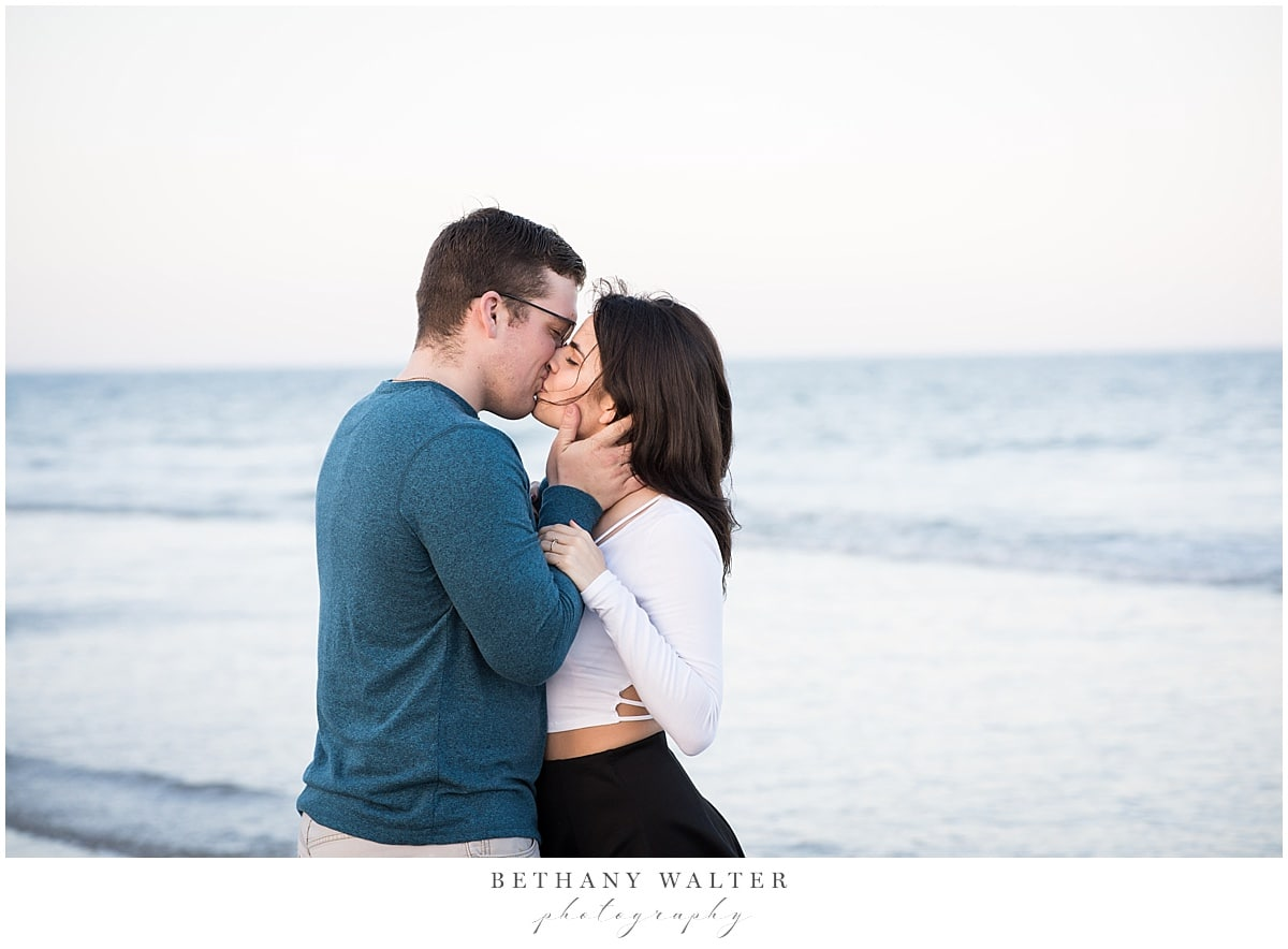 Beach Engagement Session on Little Talbot