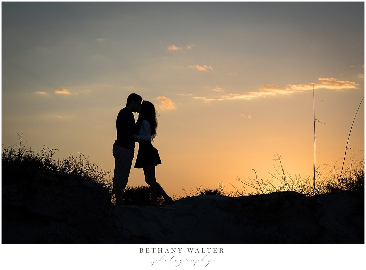 Sunset Engagement Picture at Little Talbot