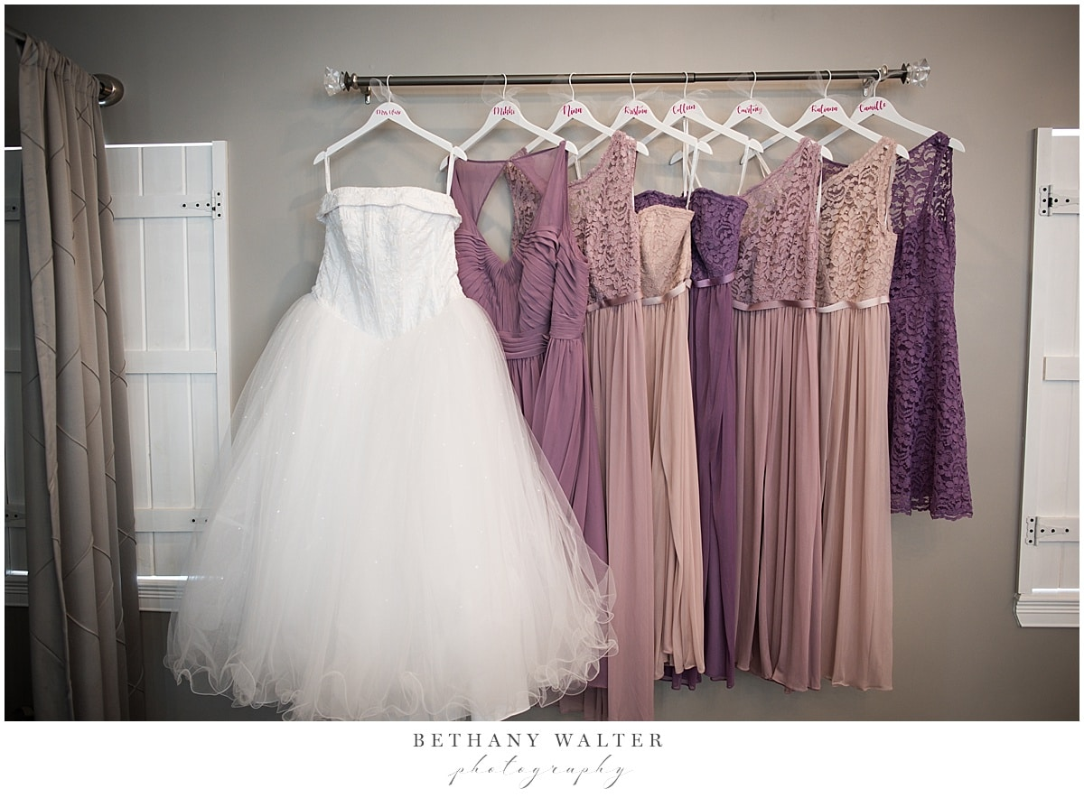 Plantation Oaks Wedding Bride's and Bridesmaids' Dresses