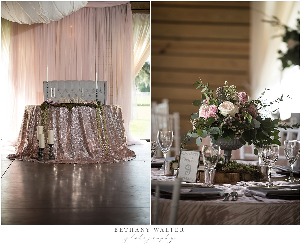 Plantation Oaks Wedding Reception Decor by Event Decor and More by Carla and Flowers by SPR Events