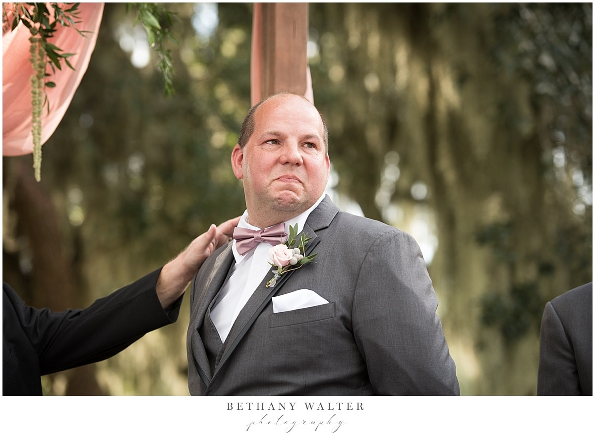 Plantation Oaks Groom Seeing the Bride For the First Time