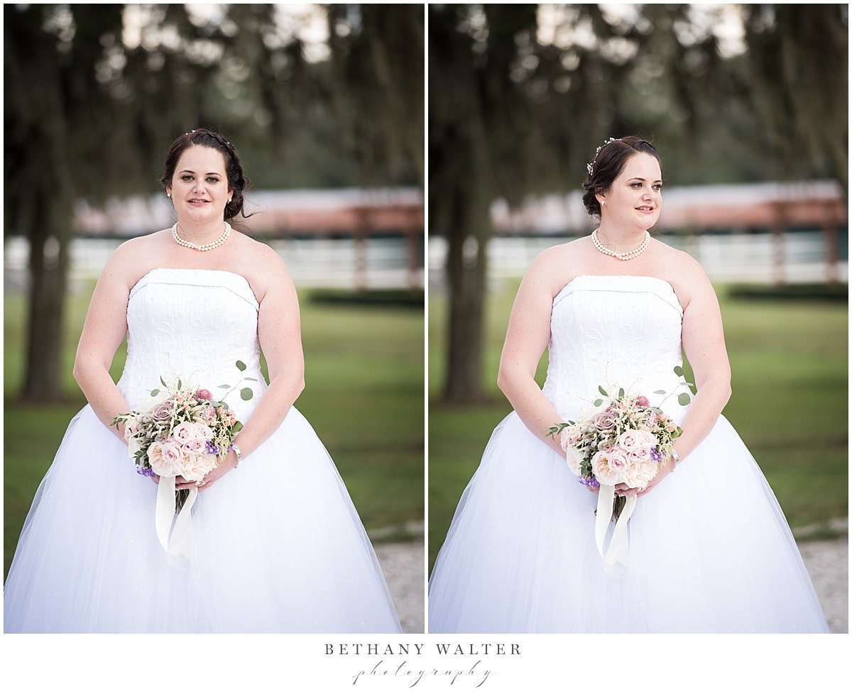 Bride and groom after their Plantation Oaks wedding ceremony