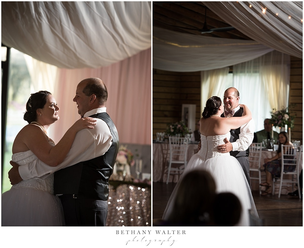 Bride and groom first dance after their Plantation Oaks wedding ceremony