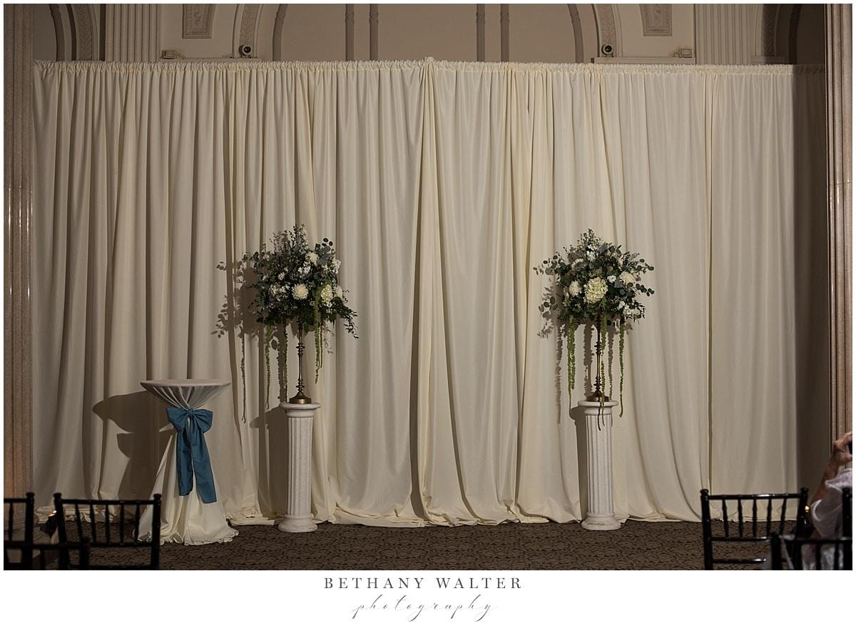 Treasury on the Plaza Wedding Ceremony Setup