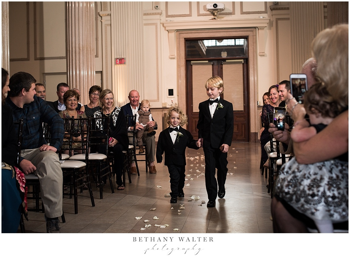 Ring Bearers at Treasury on the Plaza