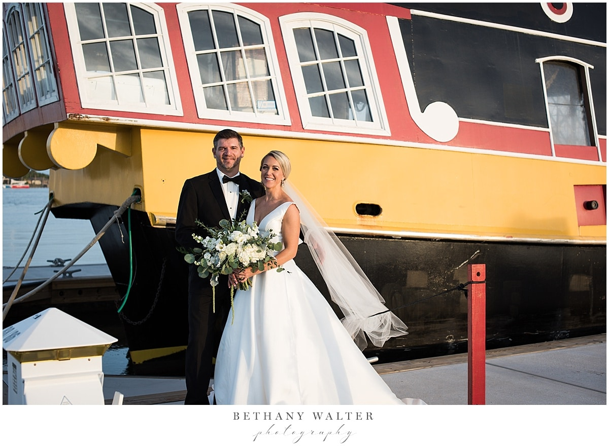 Bride and Groom at the Marina in St Augustine