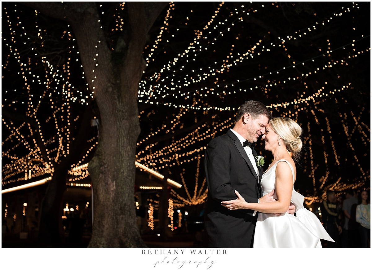 Bride and groom portrait at Nights of Lights