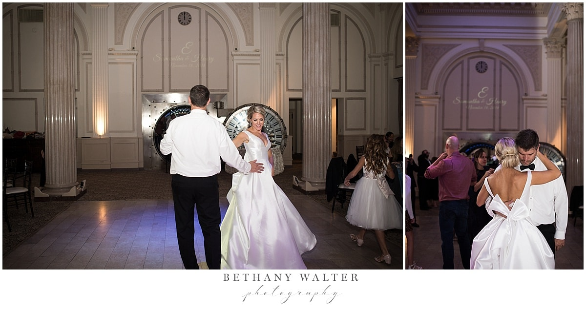 Dancing at the Reception at Treasury on the Plaza