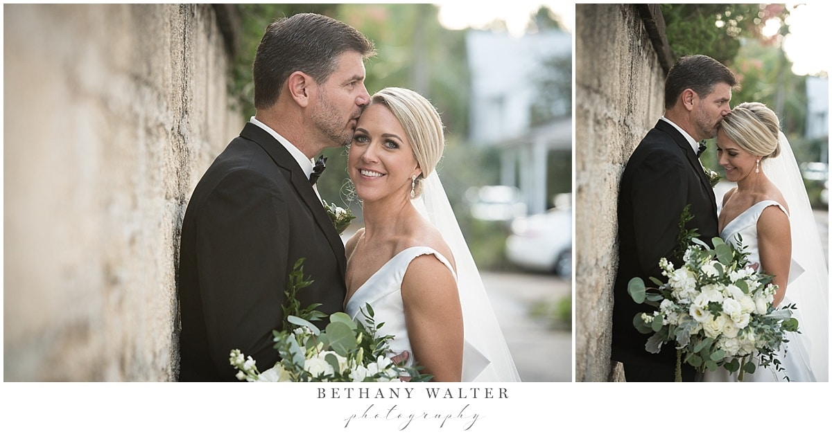 Bride and Groom Portraits on the Streets of Historic St Augustine