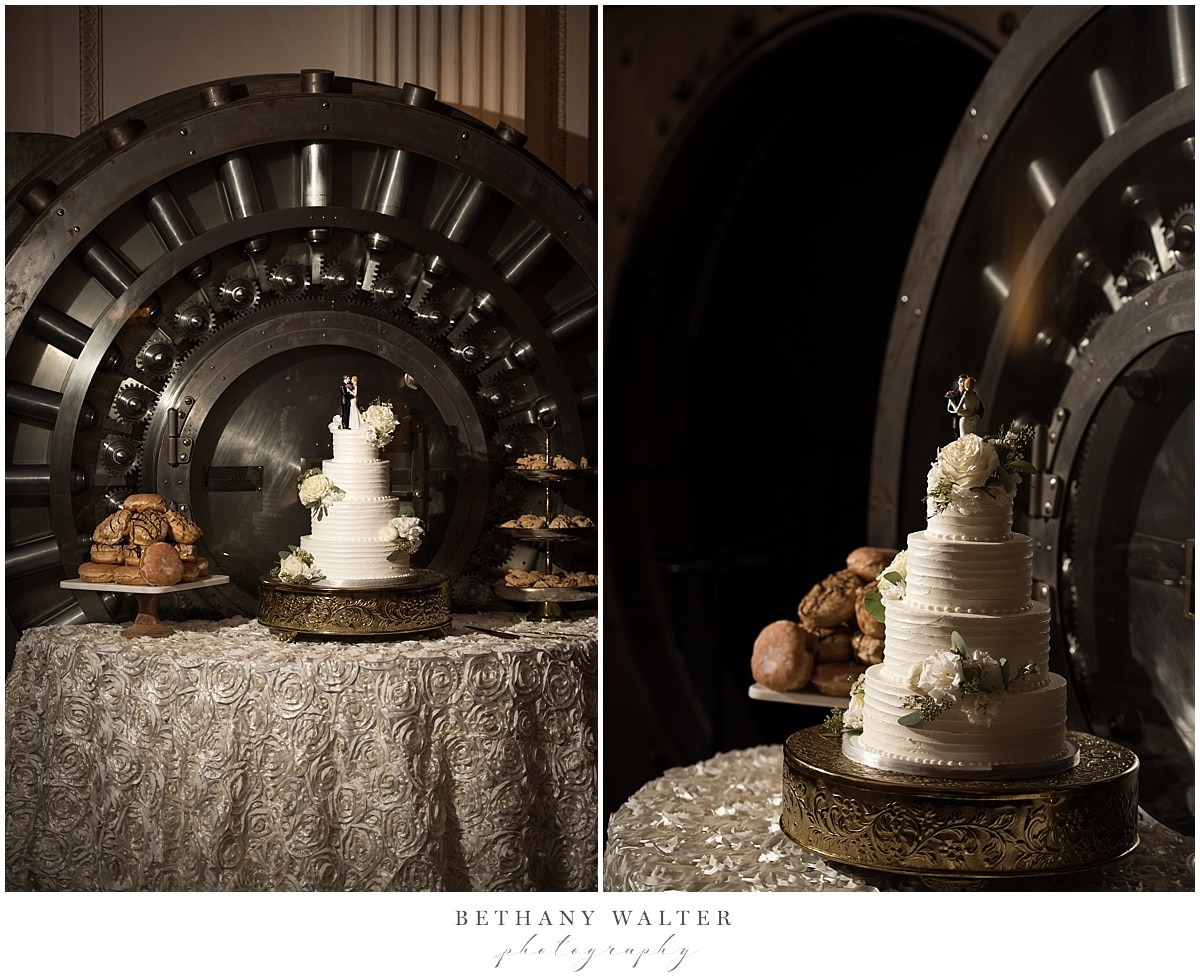 Wedding Cake and Desert Table by The Vault Bar