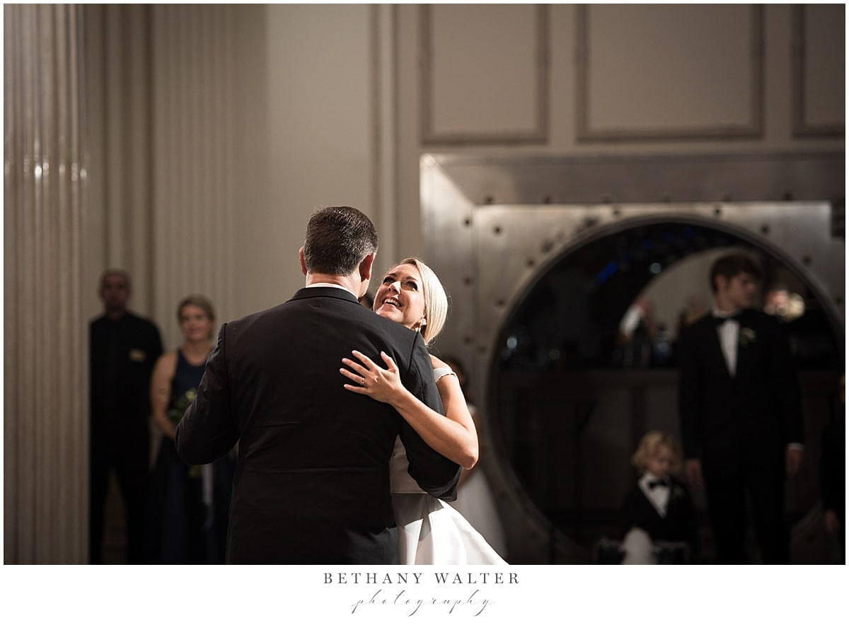Bride and Groom First Dance at Treasury