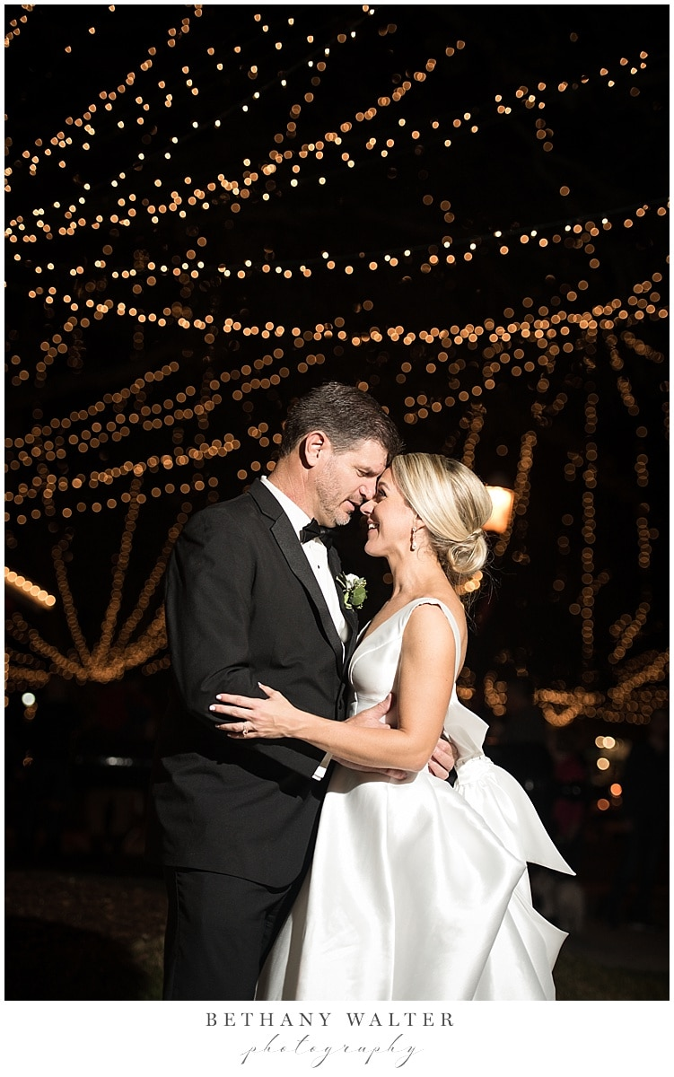 Bride and Groom Portrait During Nights of Lights